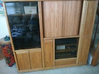 brown wooden TV hutch  Stafford, 22554