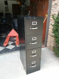 black metal 4-drawer filing cabinet Escondido, 92026