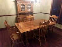 rectangular brown wooden table with six chairs dining set Westerville, 43082