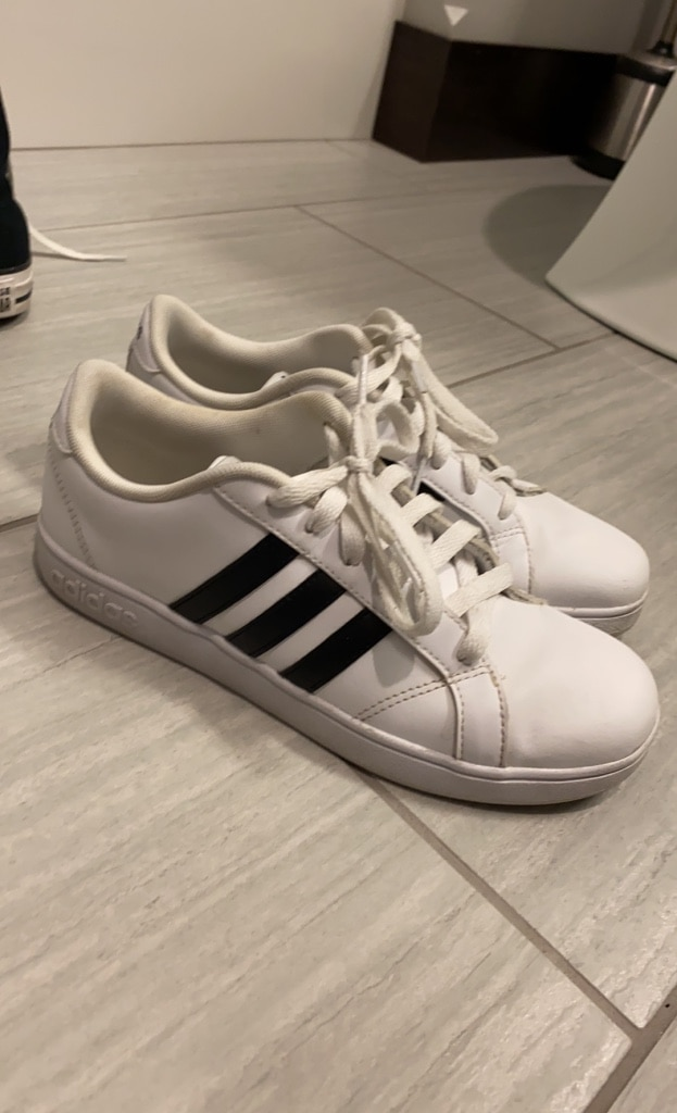 Photo White adidas shoes