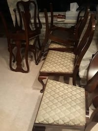 Dining room set chairs and hutch