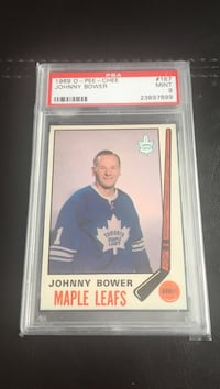 1969-70 Johnny Bower PSA 9 Ottawa, K1T