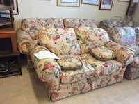 Floral sofa and loveseat (yellow) Davenport, 33837