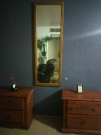 brown wooden night stands with mirror Bakersfield, 93304