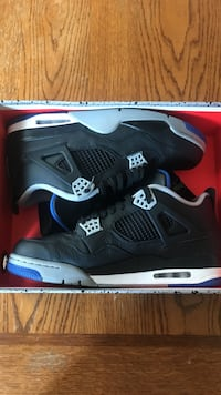 Pair of black air jordan 4's basketball shoes with box Rogersville, 65742