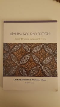 AP/HRM 3450 2nd edition book (2017)