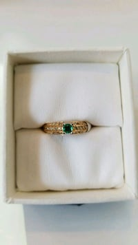 Gold plated silver ring on colored zirconia  Toronto, M5B 1T8