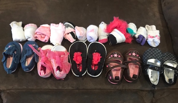 Shoes- baby girl size 1 & 2 plus socks