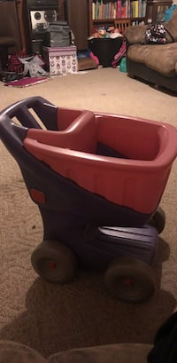 Little tikes step 2 pink/purple grocery cart Decatur, 62522