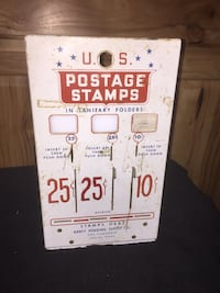 U.S. Stamp machine face plate and other parts