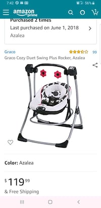 Graco baby swing Chicago, 60620