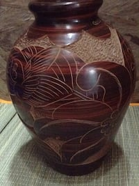Brown and black ceramic vase Denver, 80205