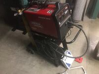 Lincoln Electric Power MIG 140C MIG Welder, Gas, Cart and Tools