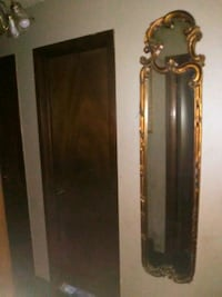free-form wall-mount mirror with gold-colored frame Midwest City, 73130