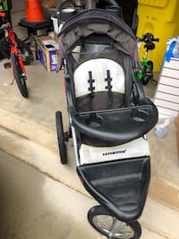 Baby's black and gray jogging stroller Severn, 21144