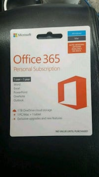 Microsoft Office 365 1 Year Subscription Key Card  Michigan City, 46360