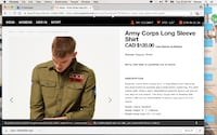 SuperDry Army Shirt Brand New  MONTREAL