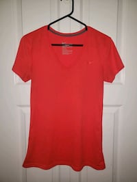 NEW Small NIKE V-Neck Workout Sport Top T-Shirt