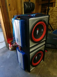 black and red Pioneer subwoofer Aurora, 80011