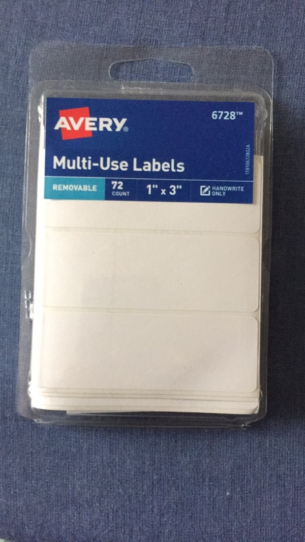 Avery Multi Use Labels - 72 Stickers