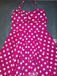 Ixia Red Polka Dot Dress Tustin