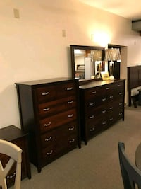 brown wooden dresser with mirror Cuyahoga County, 44138