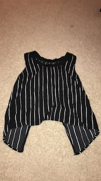 black and white striped sleeveless blouse Fairview, 28079