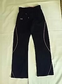 Black and pink under armour jogging pants