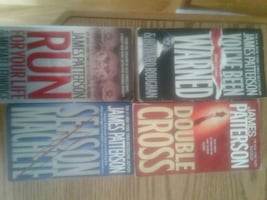 James Patterson's softcover books. $2.00 each or all 4 for $6.00.