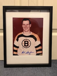 Boston Bruins Cal Gardner Signed and framed photo Châteauguay, J6K 2A7