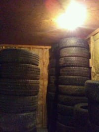 Tire stacked to the roof  litteraly  Calgary, T2E 5K4