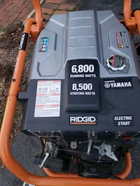Rigid Generator 8500 Watt.  Only 17 hours!