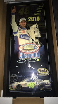 Jimmie Johnson Championship clock plaque/ only 500 in the world made Pearl, 39208
