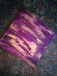 white and purple abstract painting 49 km