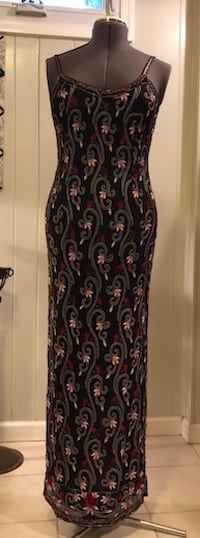 Sz. 10 Beaded & Embroidered Gown FAIRFAX