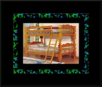 Wooden Twin bunkbed frame with 2 mattress Alexandria, 22305