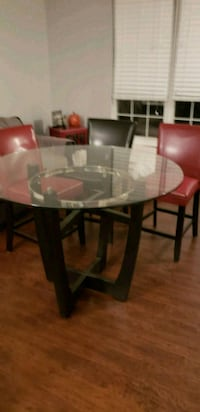 Bar Height Glass Dining Table 6 km