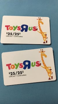 2 gift cards 25+25=50 sale for 40 Milton, L9T 0C9