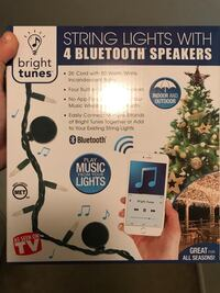Bright tunes string lights with 4 bluetooth speakers box Columbia, 21044