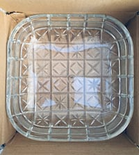 "10"" Block Crystal Serving Dish - BRAND NEW IN BOX/NEVER USED Stockton, 95209"