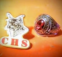 Vintage Knoxvile Central Class Ring/ Pin Knoxville, 37918