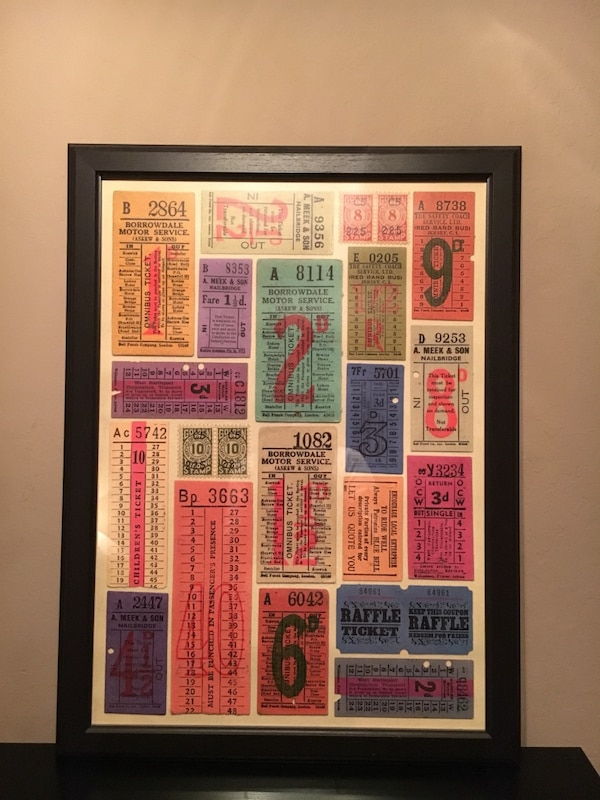 Used 23x30 Vintage Ticket Poster In Gl Frame Originally 45 For Oakland Letgo