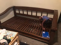 Pottery barn day bed. Real wood