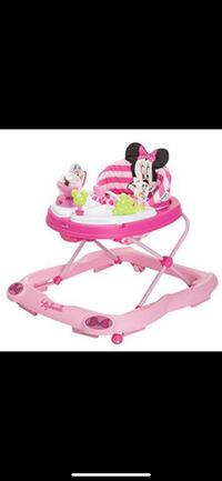 Pink minnie mouse walker