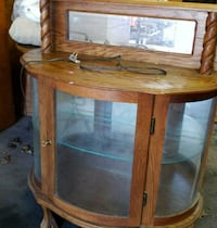 Glass front curio cabinet Cedar Lake
