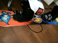 snowboard with dc boots and a helmet Lloydminster