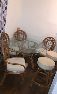 4 set and 2 stools table set
