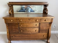 Antique Oak Sideboard with Mirror Fort Mill, 29707