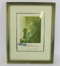 Signed President Richard Nixon Picture Professionally Framed