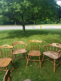 two brown wooden windsor chairs Kitchener, N2G 3A7